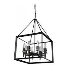 home exterior interior magnificent vineyard 8 light matte black chandelier artcraft lighting pertaining to