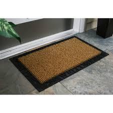 astroturf ser door mat acorn and oak leaf welcome with rubber border 18 x 30 cocoa com