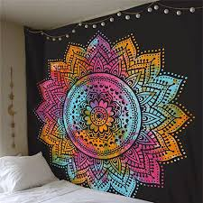 cilected black colorful mandala tapestry wall hanging indian mandala wall tapestries for home decor mandala wall on black art tapestry wall hangings with cilected black colorful mandala tapestry wall hanging indian mandala