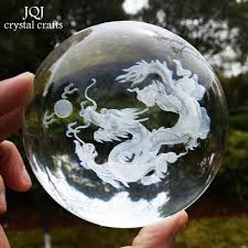 Decorative Marble Balls JQJ 100D Crystal Dragon Ball Figurine Feng shui Desk Decorative 34