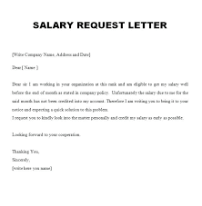 Raise Request Salary Letter Format Pay Raise Sample Letters Statement