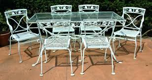 white iron patio table gorgeous white wrought iron patio furniture residence decorating regarding white metal outdoor dining table plan vintage white