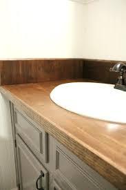 wood countertop bathroom sink an easy way to change your vanity in