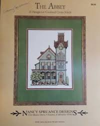 Class House Chart Details About Nancy Spruance Designs The Abbey Signed Victorian House Cross Stitch Chart