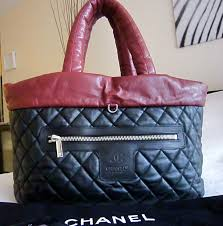 Authentic Chanel Coco Cocoon Burgundy/Black Lambskin Leather ... & Authentic Chanel Coco Cocoon Burgundy/Black Lambskin Leather Reversible  LARGE Tote Bag Adamdwight.com