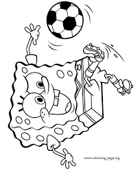 Small Picture SpongeBob SquarePants Spongebob Playing Soccer Coloring Page