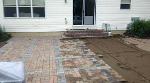 paver patio installation columbus ohio installing the patio begins paver patio