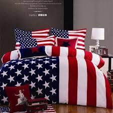 4pcs bedding set 200x230cm kind queen stars stripes print American flag cotton duvet forter cover sheet 640x640