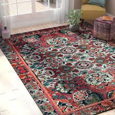 orange blue area rug and arapaho