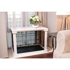 zoovilla dog crate with white cover large