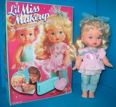 mattel lil miss makeup my favorite babydoll you could make her makeup appear or disappear with hot or cold water plus she had an awesome heart on her