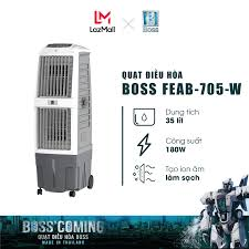 Quạt điều hòa Boss FEAB-705-W - 35 lít - 180W | Bảo hành 12 tháng chính  hãng