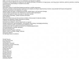 Phlebotomy Skills For Resume Lovely Phlebotomy Resume Template