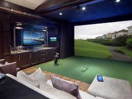 Golf Simulator Lighting It Is All About The Lighting Golf Room Golf Man Cave