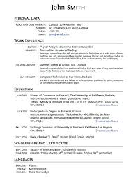 Resume Templates For No Work Experience Unique Format For A High School Resume Dadajius