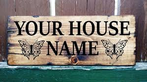 personalised wooden house name door