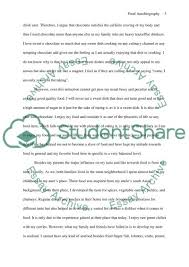 food autobiography essay example topics and well written essays  food autobiography essay example