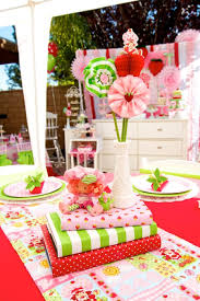 Decorations:Kids Theme Party Decoration Idea With Polka Dots Tablecloth And  Ribbons Decor Colorful Table