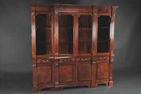 Big Lots Kitchen Table Sets Mahogany China Cabinet High End Antique Reproduction Breakfront