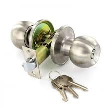 Door Knobs lockable door knobs images : Satin Stainless Steel Door Knob Set - Entrance (Key Locking ...