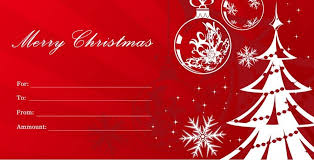 Christmas Gift Certificate Template - Learntoride.co with regard to Homemade  Christmas Gift Voucher Template
