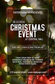 Christmas Event Christmas Celebration Event Poster Template Event Poster