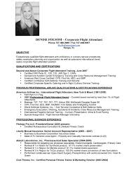 Flight Attendant Resume Objective Air Hostess Cv With No