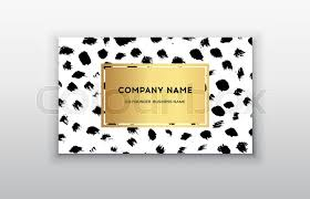 stock vector of vector gold business card templates with brush stroke background vector design