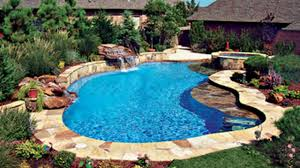 in ground swimming pool. Super Cool Inground Swimming Pools By Bluehaven. Custon Gunite Pool \u0026 Waterfall Builders. - YouTube In Ground