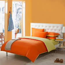 orange colored toile simply chic bedding set decorate with orange bed set