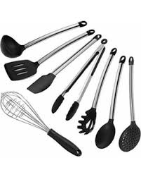 kitchen utensils images. 8 Piece Silicone Kitchen Utensil Set, Inox Stainless Steel Cookware Kitchenware Cooking Utensils Images