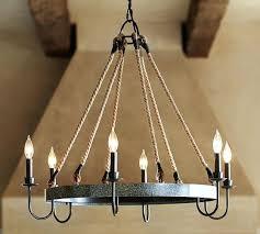 pottery barn chandelier wine barrel chandelier pottery barn clarissa rectangular chandelier installation
