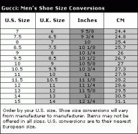 Gucci Shoe Size Chart