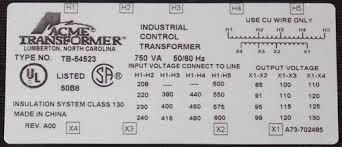 acme tb 54523 750va multi tap 1 phase industrial control Acme Transformer Wiring Acme Transformer Wiring #57 acme transformer wiring diagram