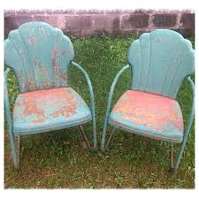 Antique Metal Patio Chairs Design 9 Old Vintage Metal Lawn Chairs