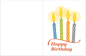Free Easy To Use Printable Birthday Card Template 2681