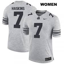 Women Dwayne College Ohio Grey State Haskins Buckeyes Jersey Football