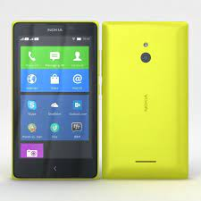 3D model Nokia XL and XL Dual Yellow ...
