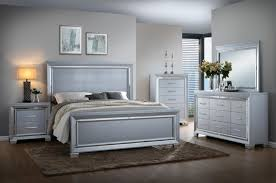 Awesome Collection In Silver Bedroom Furniture With Luca Silver Bedroom Set Bedroom  Furniture