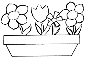 Small Picture Flower Template Or Coloring Page Flowers In Pot Coloring Page