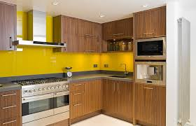 contemporary walnut cabinets awesome yellow kitchens with da