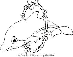 Dolphin Coloring Pages Cute Dolphin Coloring Pages Cute Baby Dolphin