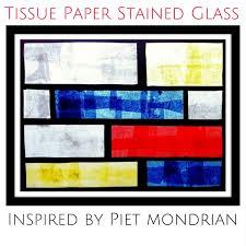 art history for kids mondrian inspired tissue paper stained glass