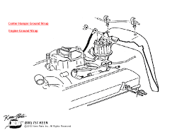 1953 2017 corvette engine ground strap parts parts accessories engine ground strap diagram for all corvette years