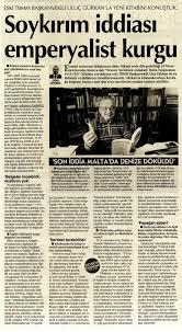 """Uluç Gürkan on Twitter: """"Eski TBMM Başkanvekili Uluç Gürkan: 'Ermeni  Soykırımı iddiası emperyalist bir kurgu' Bağlantı: https://t.co/g7WTZ8rx7J  🗞: Cumhuriyet 4.5.2020… https://t.co/fU5sW7TJnL"""""""