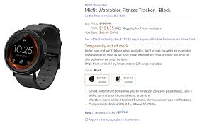 according to a new amazon listing it looks like misfit s vapor android wear smarch might actually exist soon even better you can one now over at