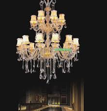 ᐂchandeliers modern luxury led crystal chandelier hotel lobby