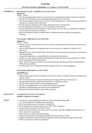 Accounting Resume Samples Manager Corporate Accounting Resume Samples Velvet Jobs 76