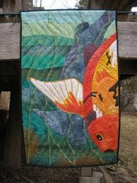 480 best Fish & Water Quilts images on Pinterest | Textile art ... & Koi - Media - Quilting Daily Adamdwight.com