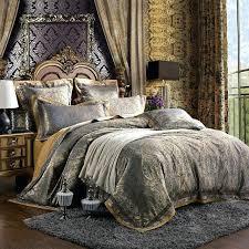 set luxury silk bedding king size damask palace style satin bed sheet sets noble duvet cover